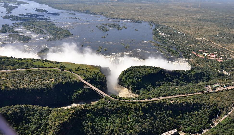 Zimbabwe - Viktoriiny vodopády